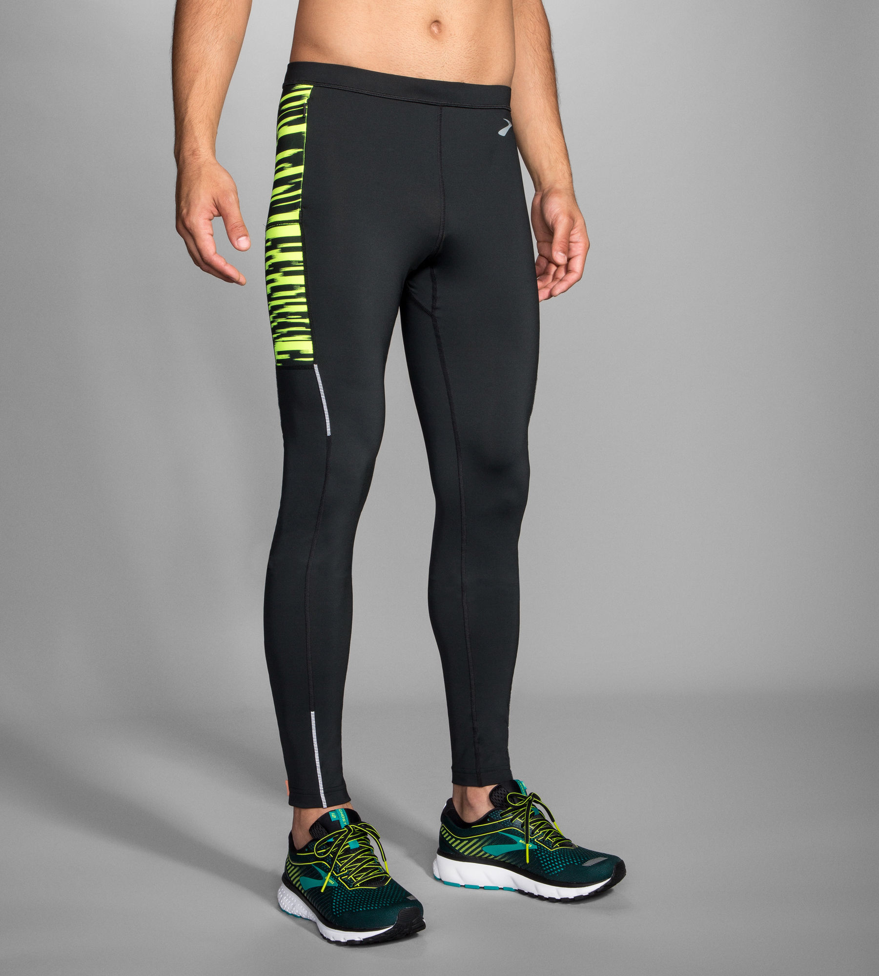 Brooks Nightlife Tight in Schwarz Gelb