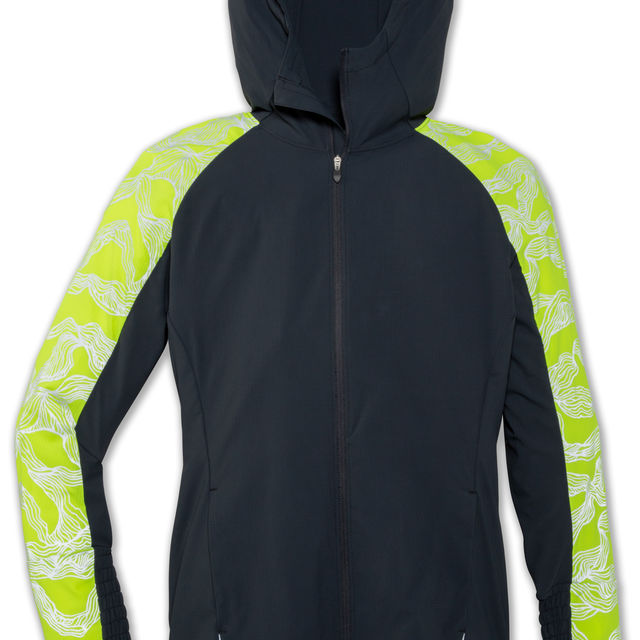 Brooks Lady Nightlife Jacket in Grau Gelb