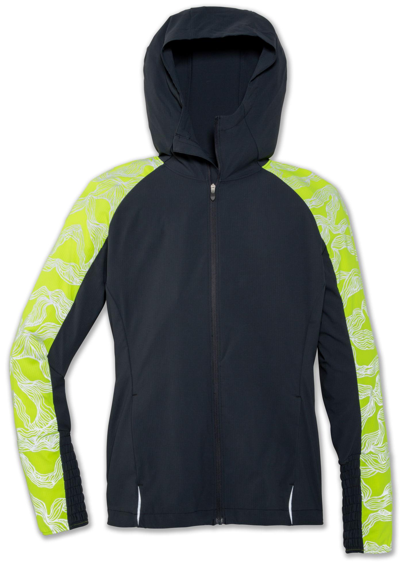 Brooks Lady Nightlife Jacket (Grau Gelb)