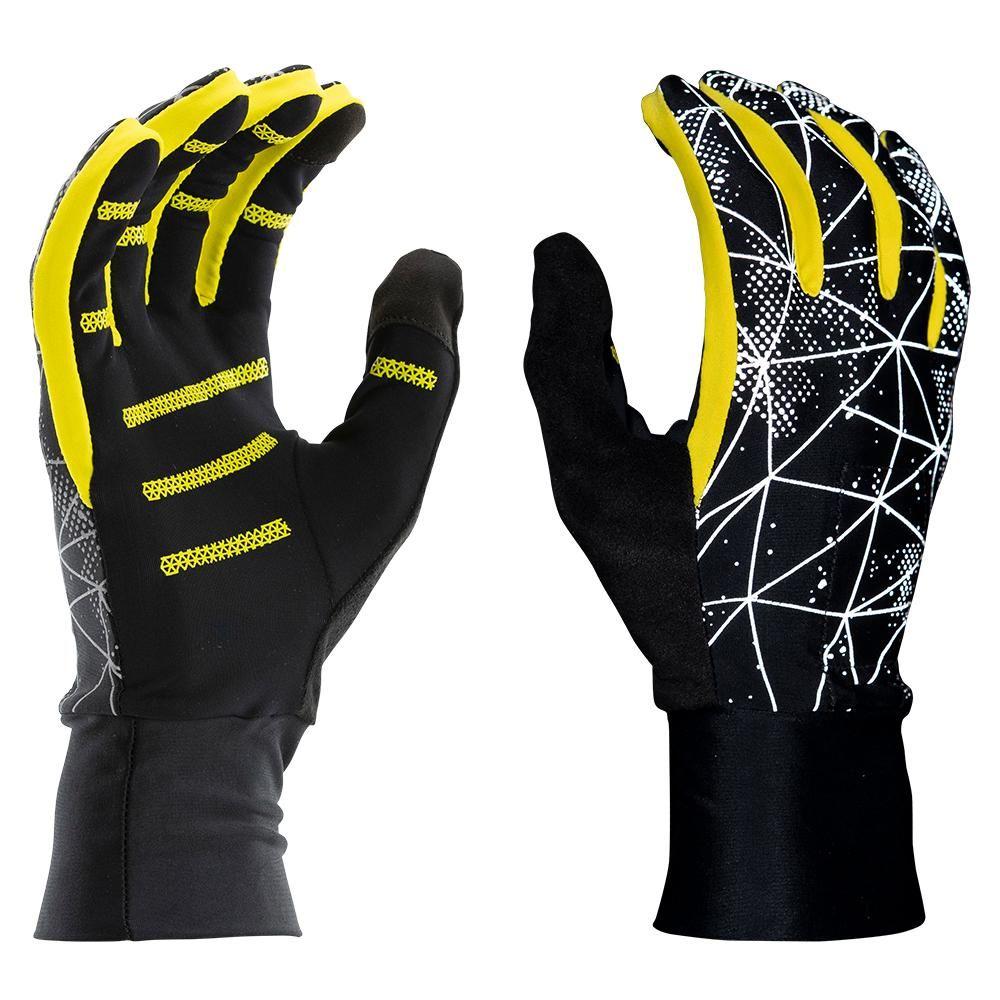 Nathan Reflective Gloves in Schwarz Gelb Reflektion