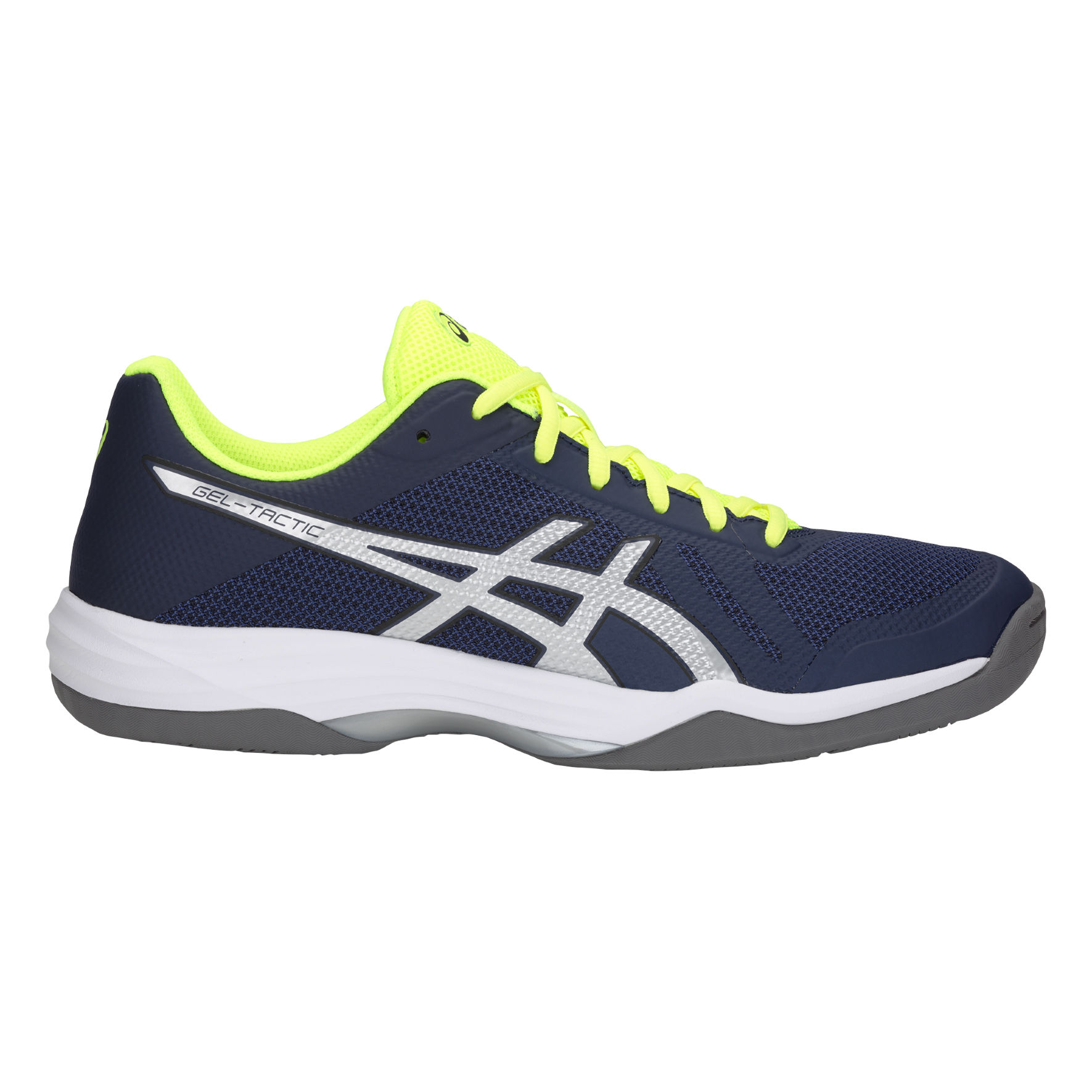 Asics Gel Tactic in Blau Gelb