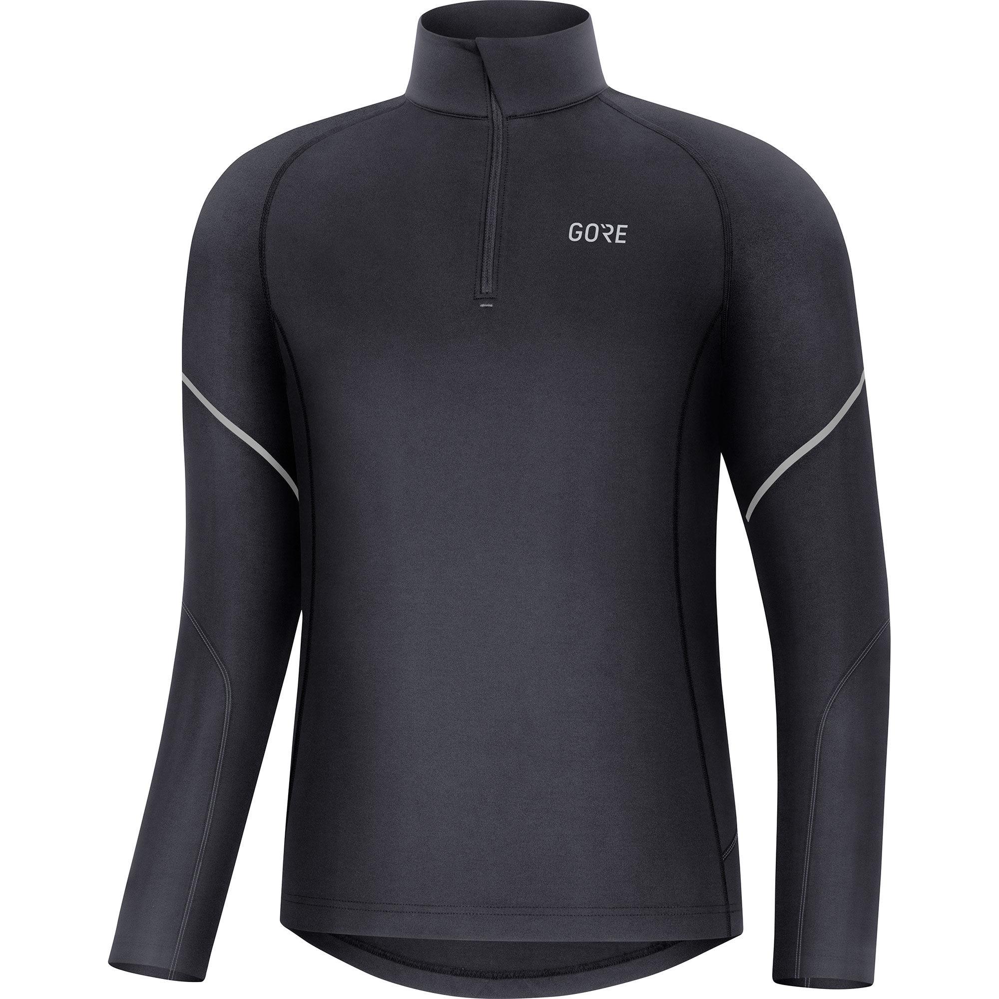 Gore Mid Zip Shirt Langarm (Schwarz)