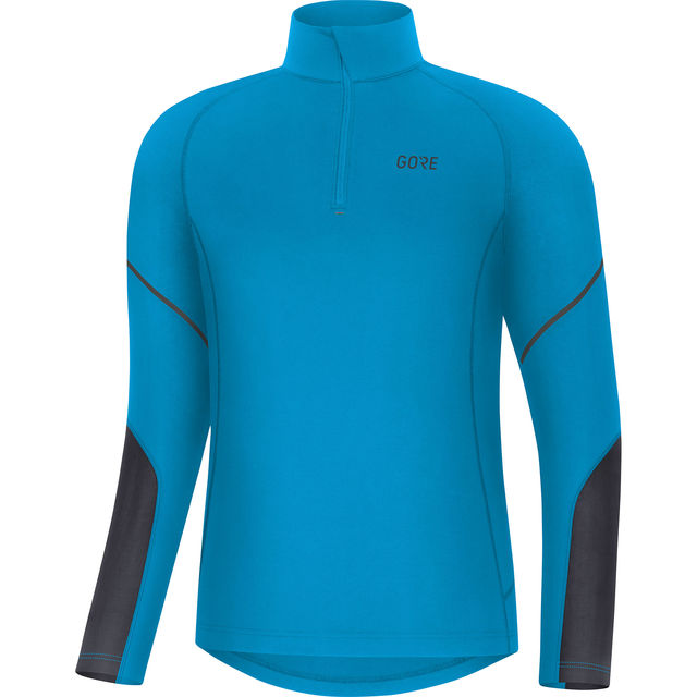 Gore Mid Zip Shirt Langarm (Blau)