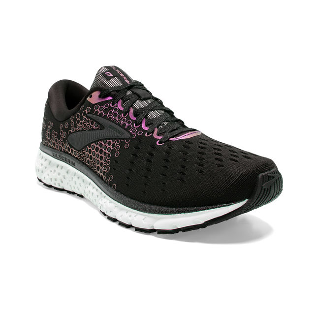 Brooks Lady Glycerin 17 Reflective in Schwarz Reflektion