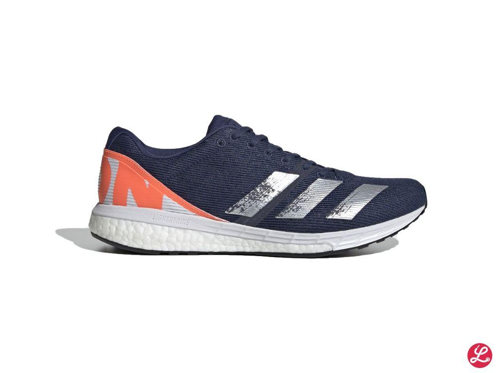 adidas Adizero Boston 8 (Blau Orange Weiß)