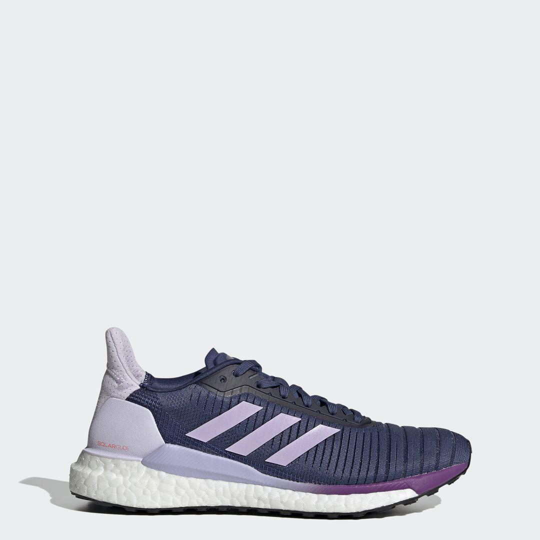 adidas SolarGlide 19 w (Blau Lila Weiß)