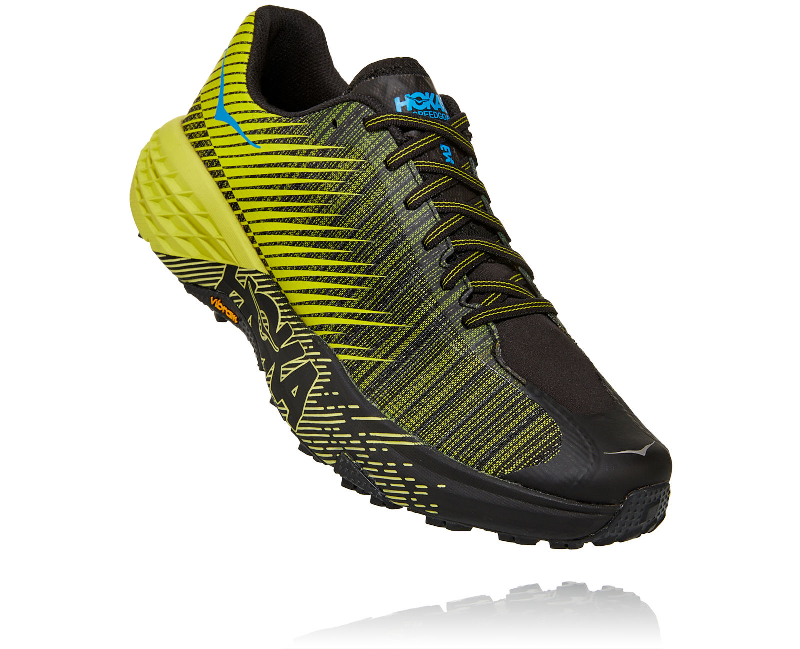 Hoka One One Evo Speedgoat in Gelb Grau
