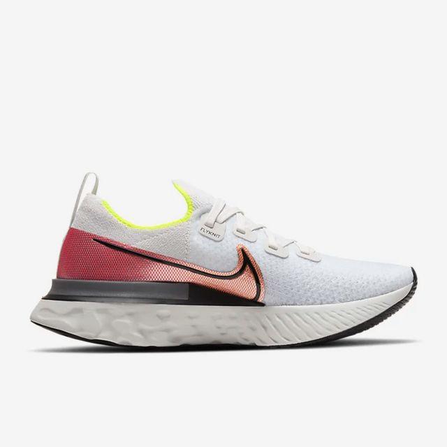 Nike React Infinity Run Flyknit in Weiß Rot Grau
