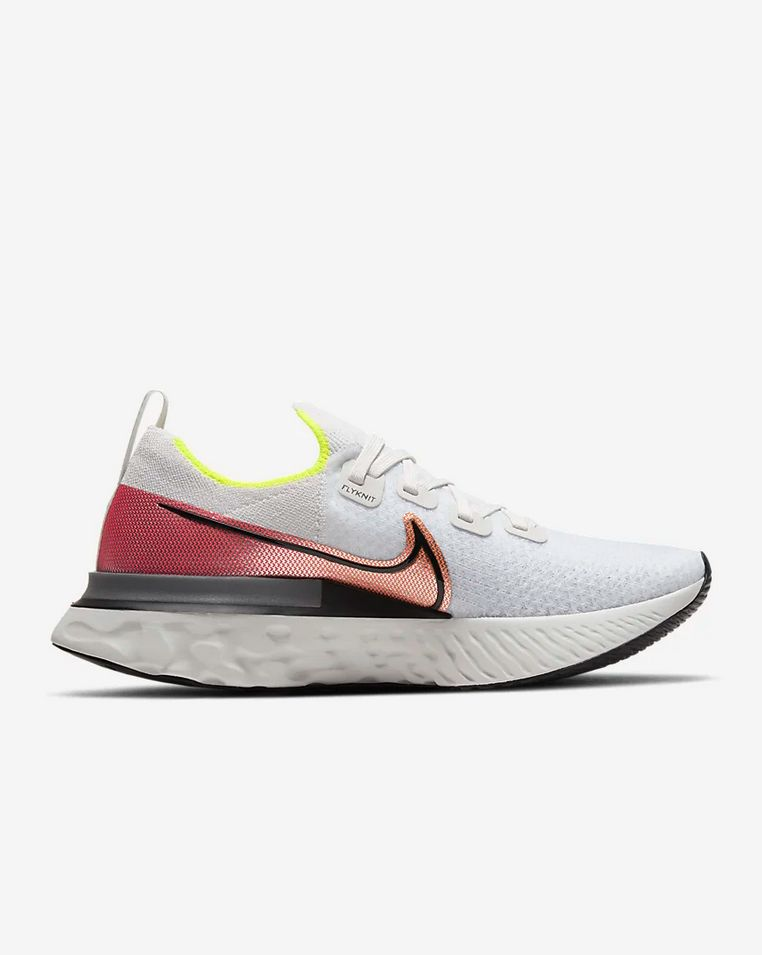 Nike React Infinity Run Flyknit (Weiß Rot Grau)