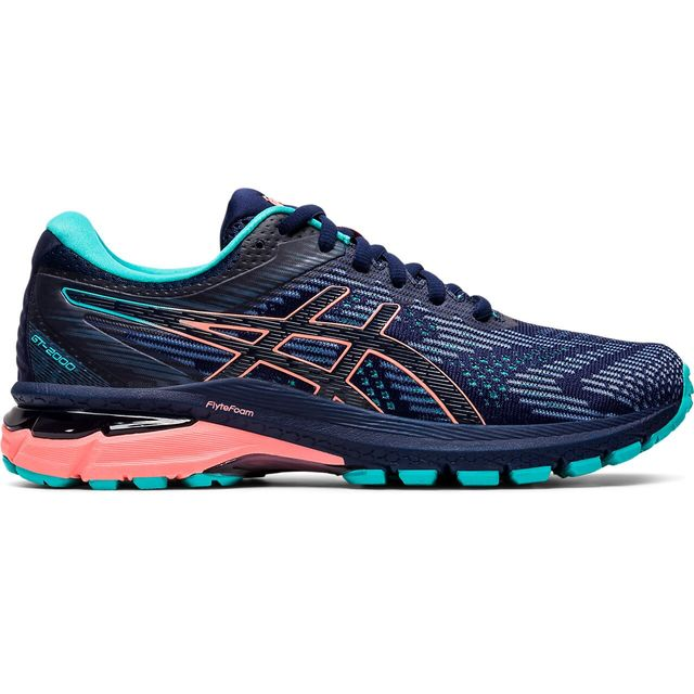 Asics Lady GT-2000 8 Trail in Blau Grün Orange