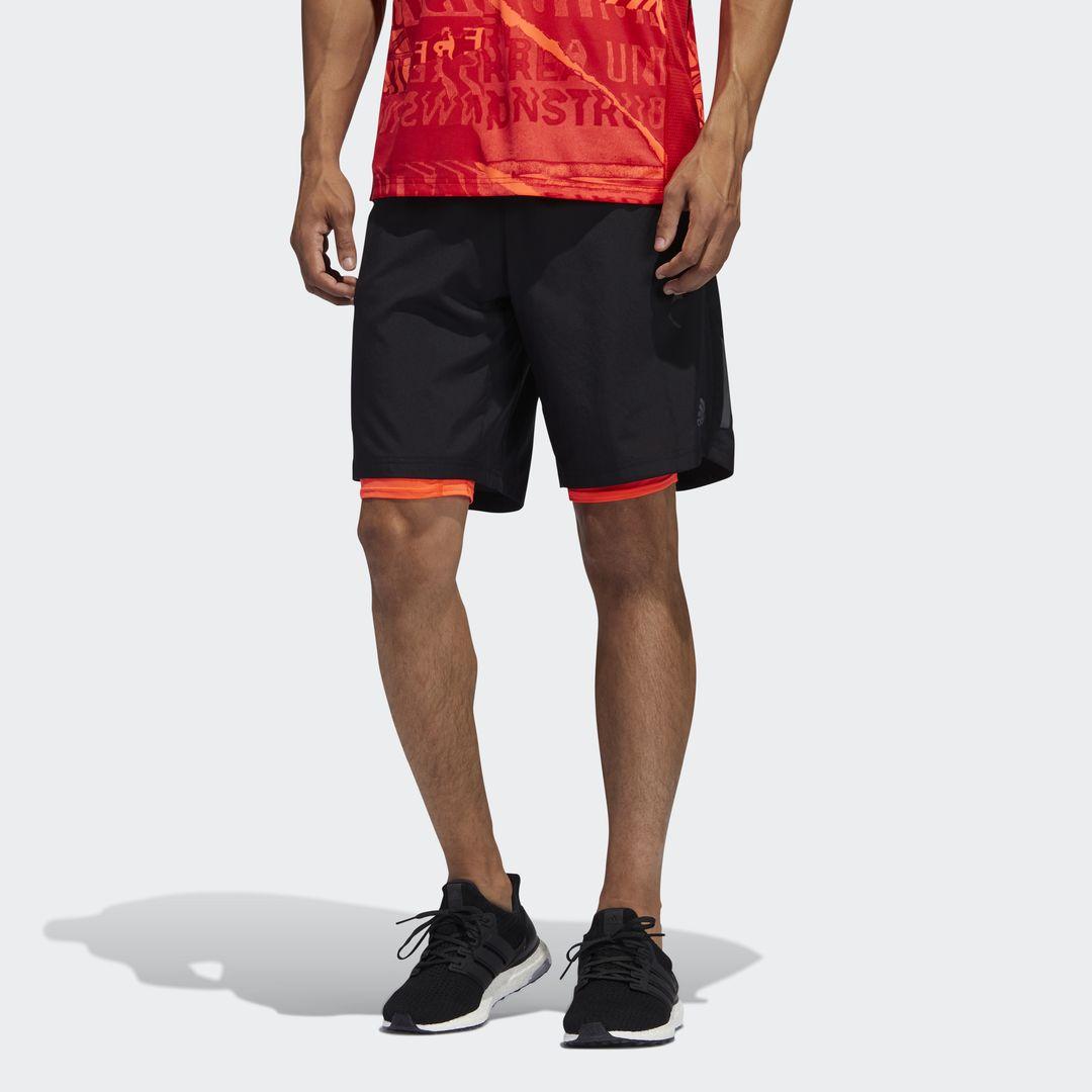 adidas Own The Run 2in Shorts (Schwarz)