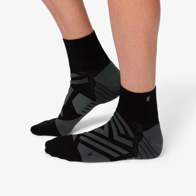 ON Mid Sock Black Shadow