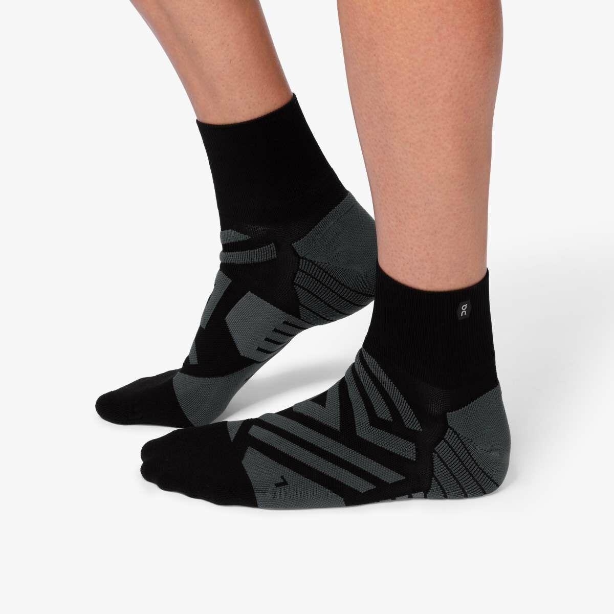 ON Mid Sock Black Shadow (Black Shadow)