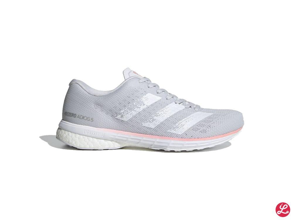 adidas Adizero Adios 5 w (Grau Weiß Rosa)