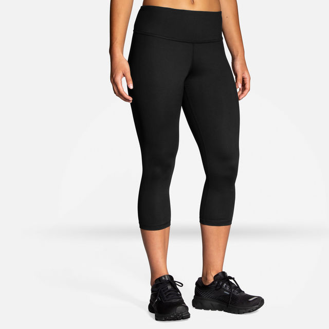 Brooks Lady Greenlight Essential Capri (Schwarz)