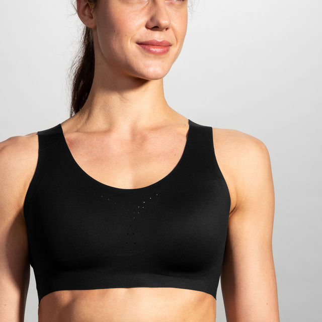 Brooks Dare Crossback Run Bra (Schwarz)
