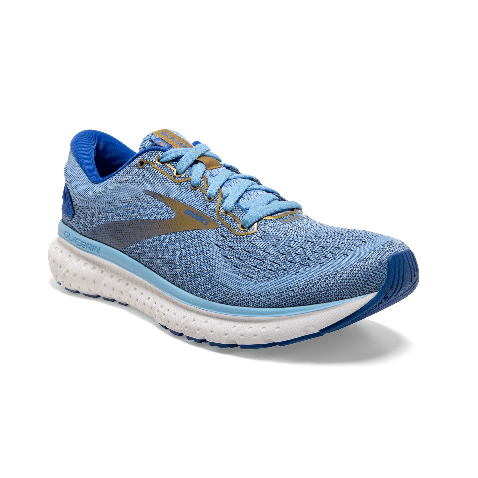 Brooks Lady Glycerin 18 (Cornflower Blue Gold)