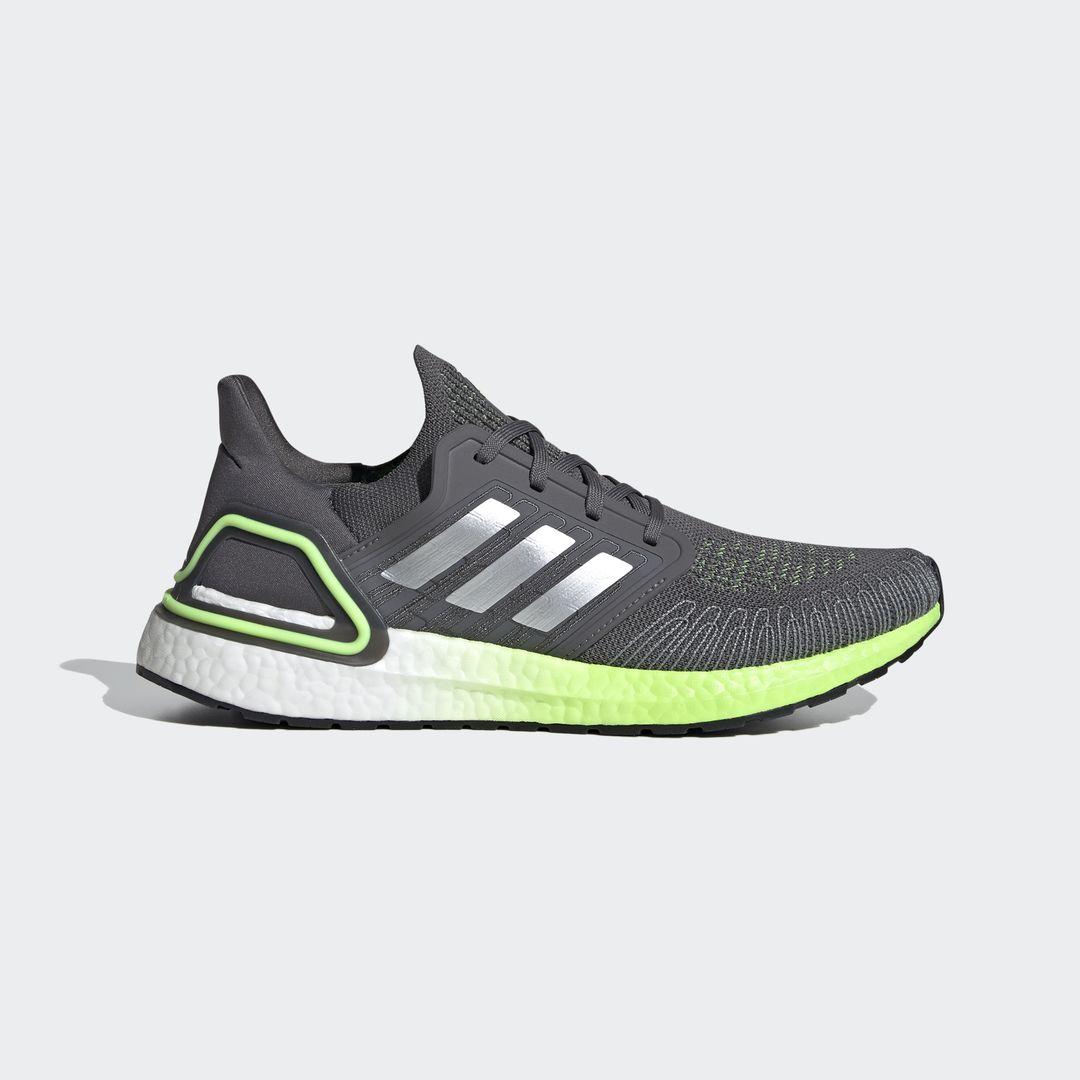 adidas UltraBoost 20 (Grau Silber Grün Weiß)