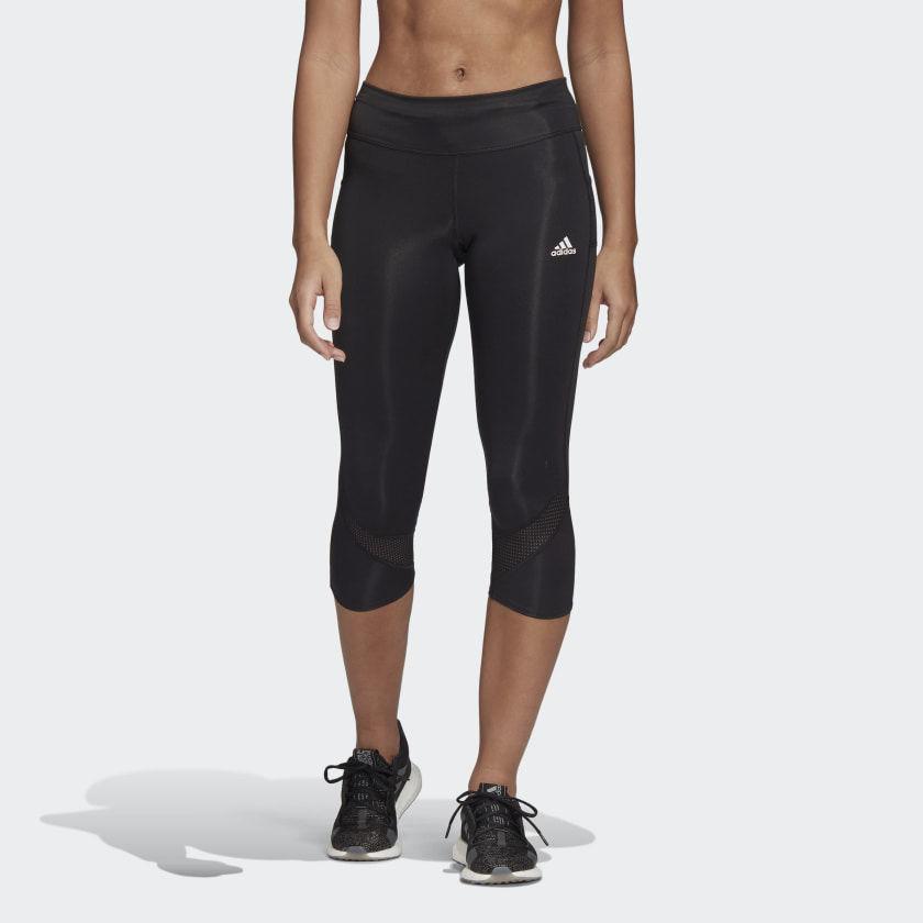 adidas Lady Own the Run Tight (Schwarz)