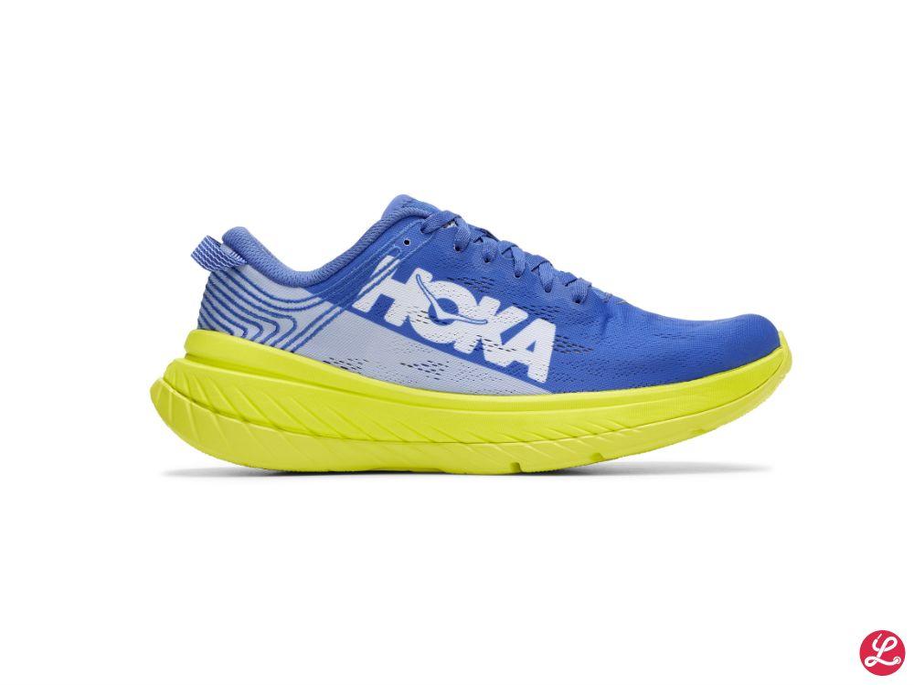 Hoka One One Carbon X (Blau Hellblau Gelb)