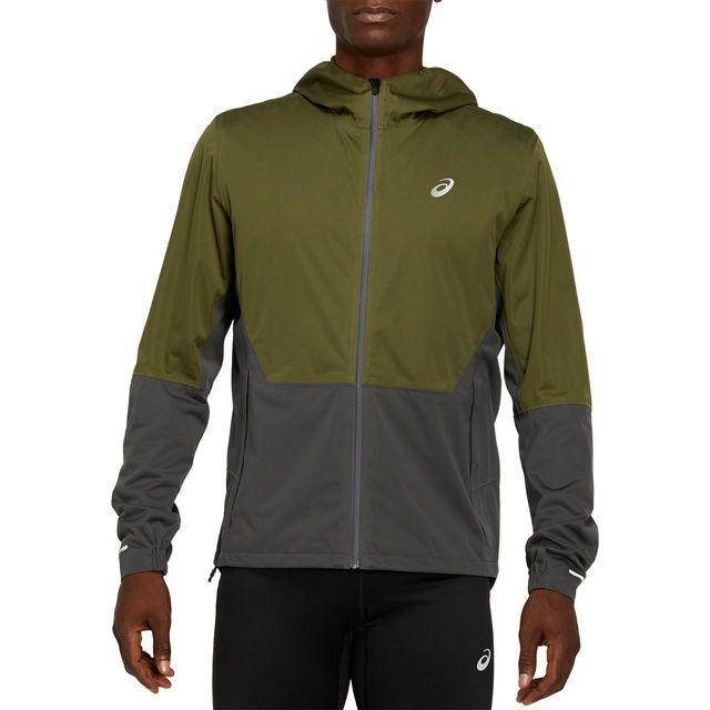 Asics Winter Accelerate Jacket (Smog Green Graphite Grey)