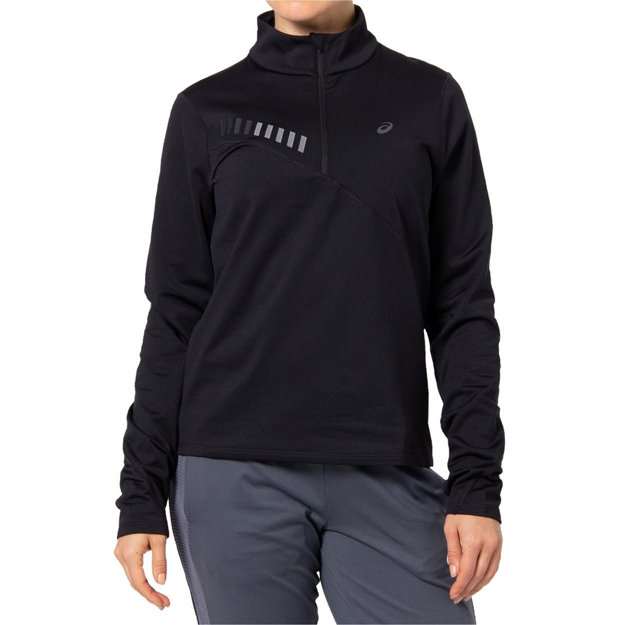 Asics Lady Lite-Show Winter 1/2 Zip Top (Black)