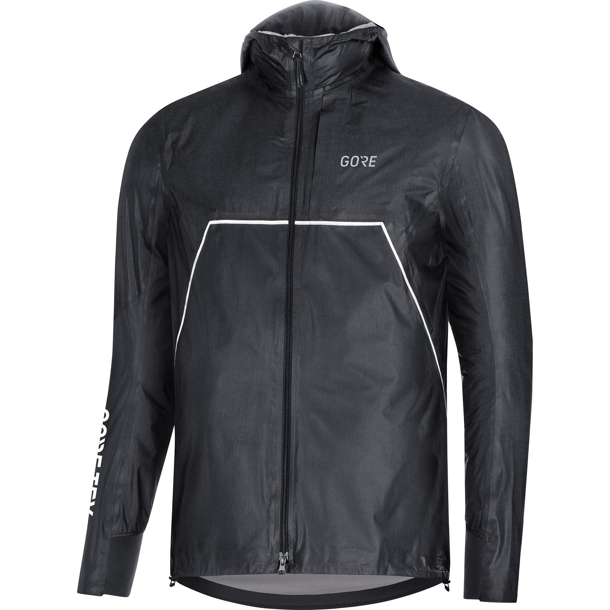 Gore R7 GTX Shakedry Trail Hooded Jacket (Black)
