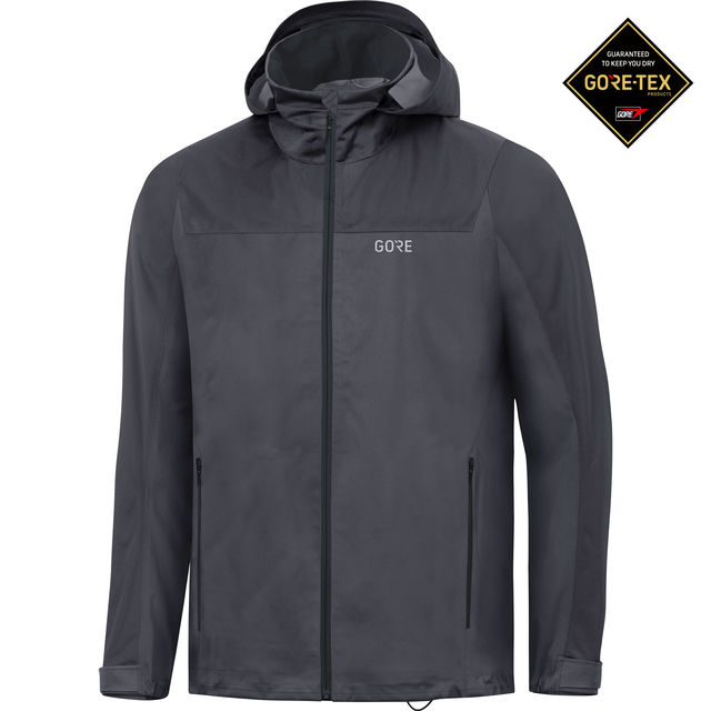 Gore R3 GTX Active Hooded Jacket (Terragrey Black)