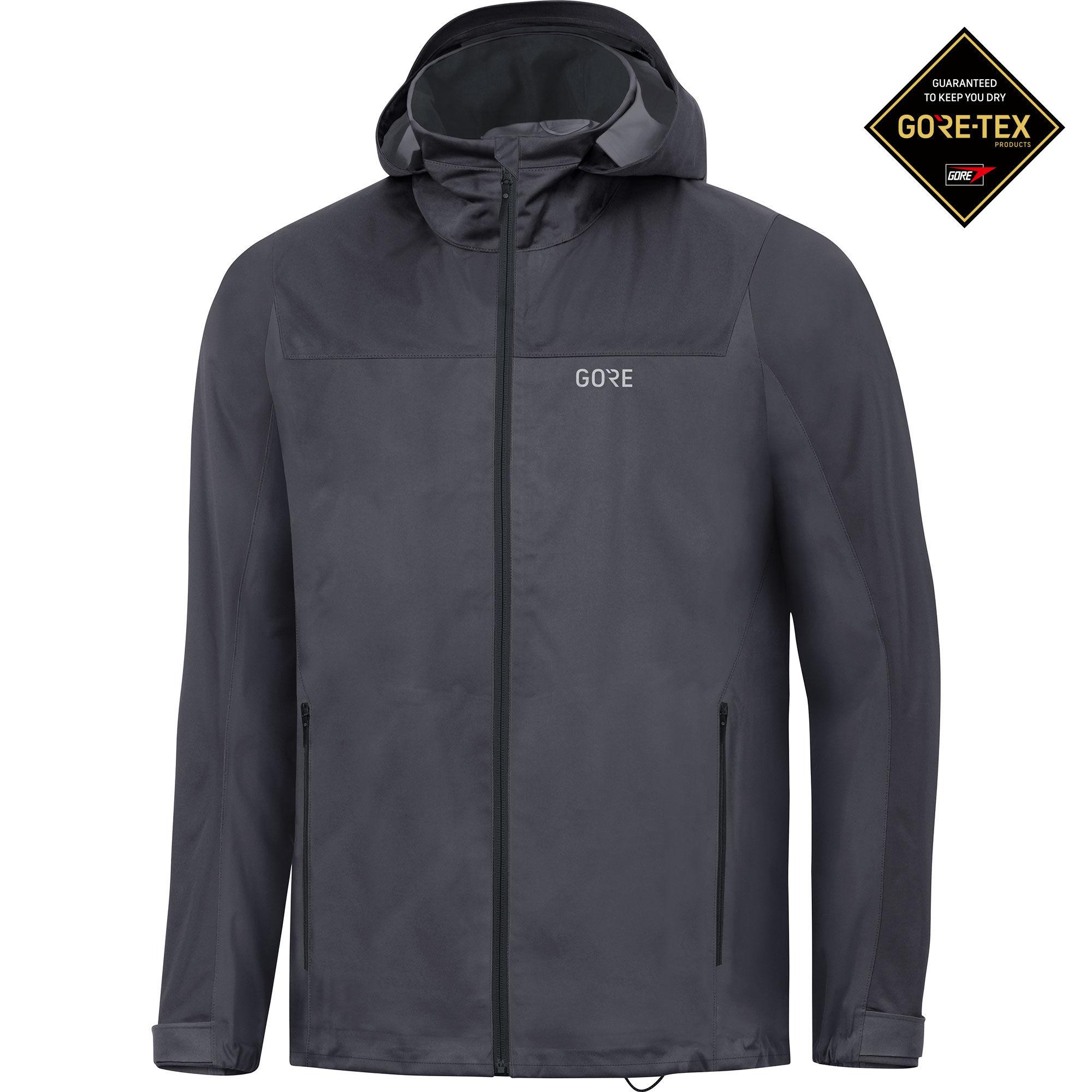 Gore R3 GTX Active Hooded Jacket (Terragrey Black)