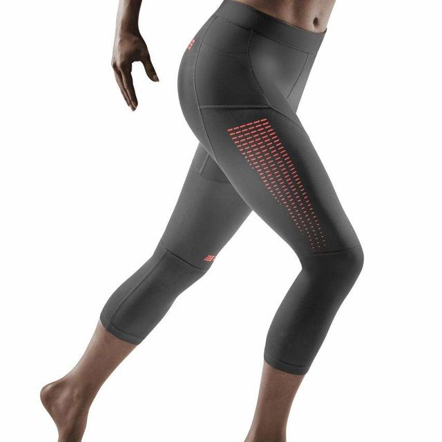 cep Lady Run Compression 3/4 Tight 3.0 (Grey/Coral)