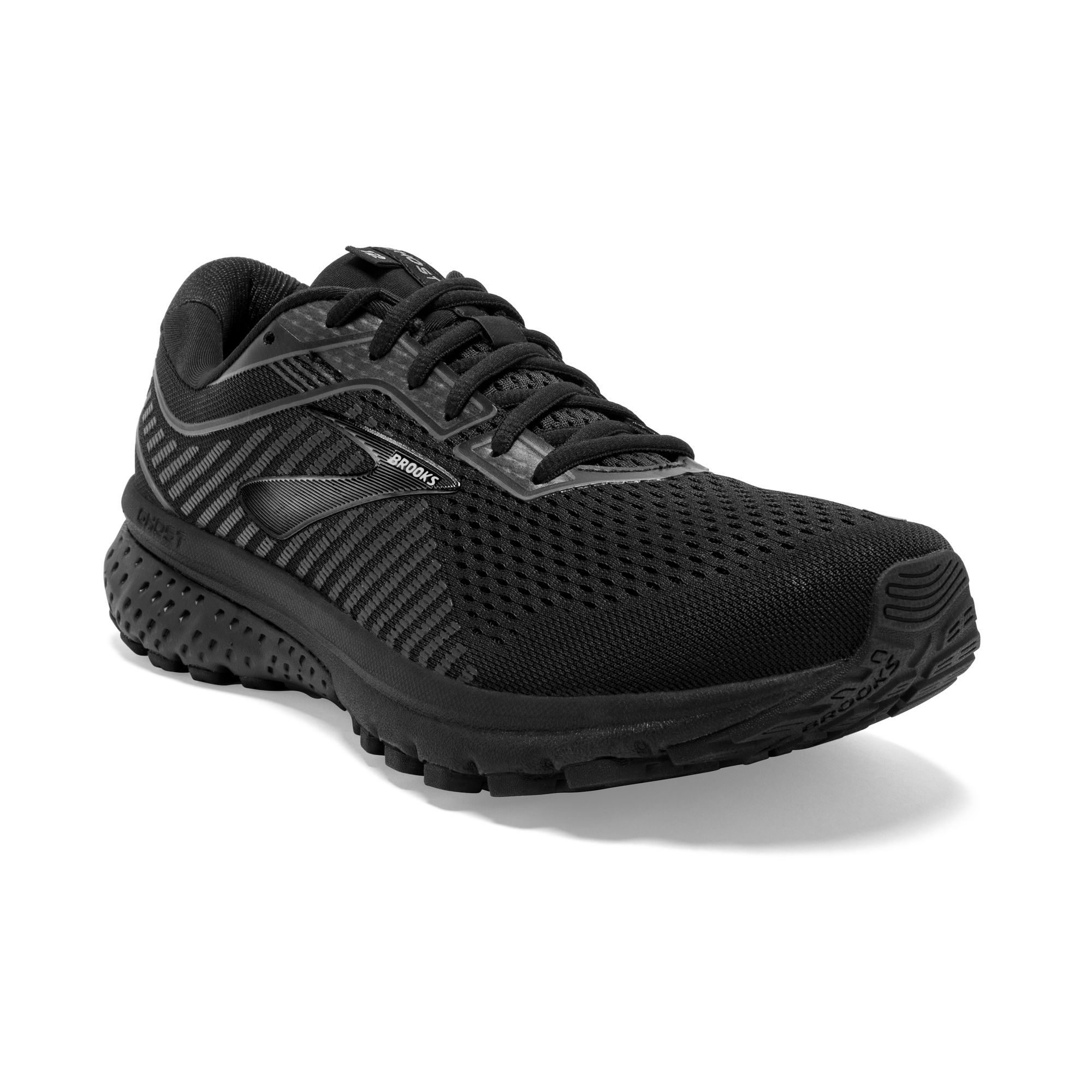 Brooks Ghost 12 All Black 4E (Schwarz)