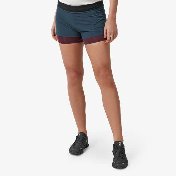 ON Lady Running Shorts (Navy Mulberry)