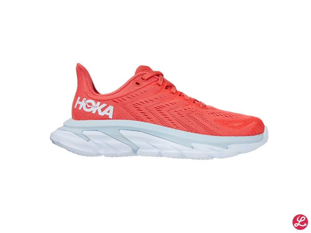 Hoka One One Lady Clifton Edge (Hot Coral White)