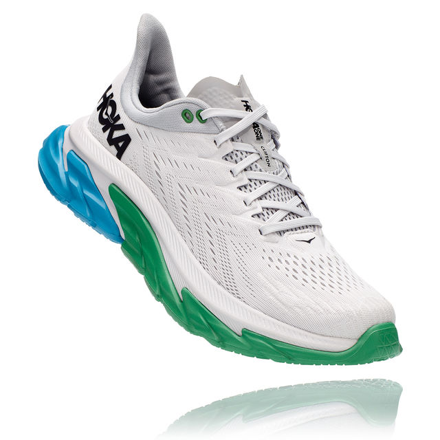 Hoka One One Clifton Edge (Weiß Blau Grün)