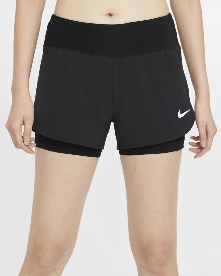 Nike Lady Eclipse 2in1 Short (Schwarz)