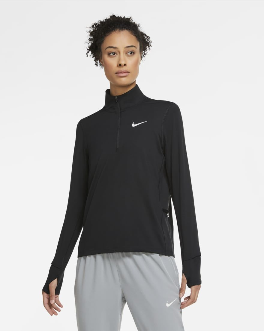 Nike Lady Element Halfzip (Schwarz)