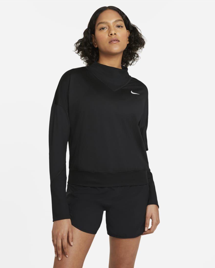 Nike Women Element Top SSNL Crew (Black)