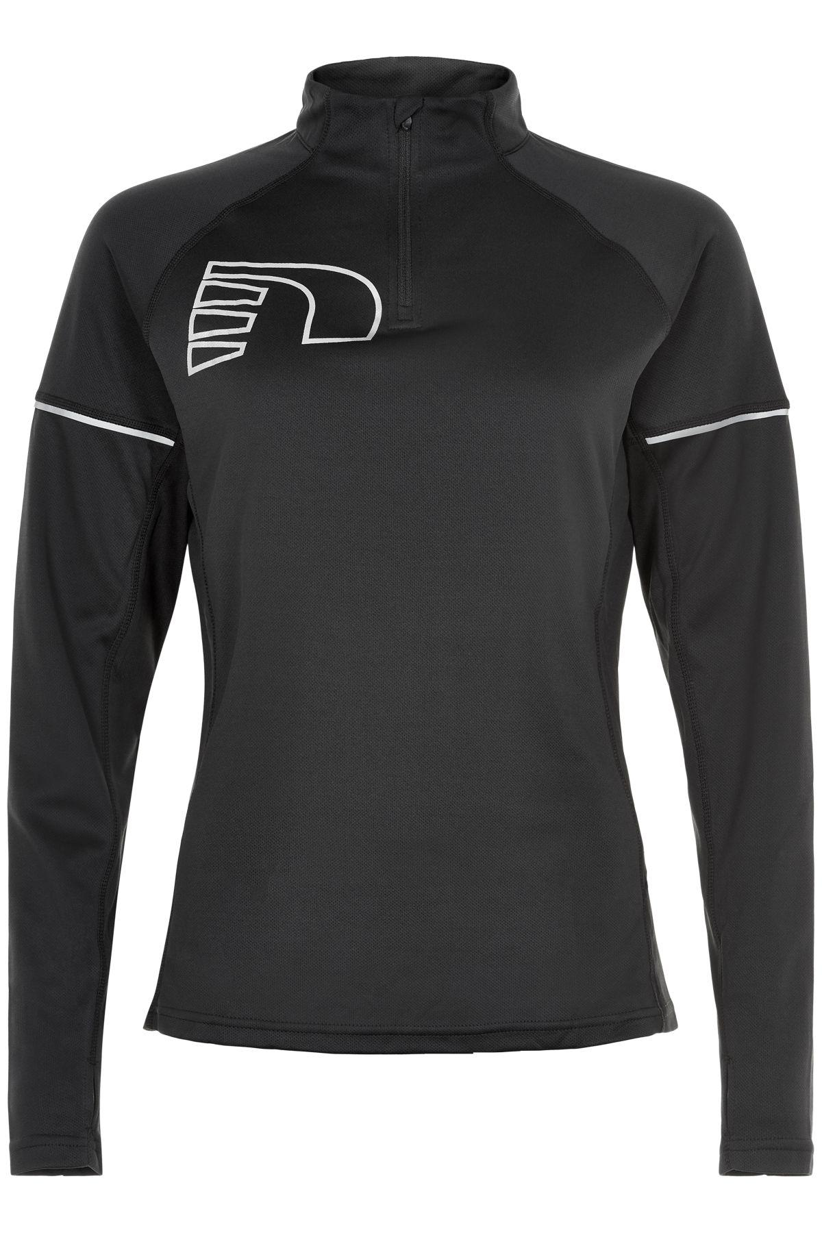 Newline Lady Core Zip Neck Shirt (Black)