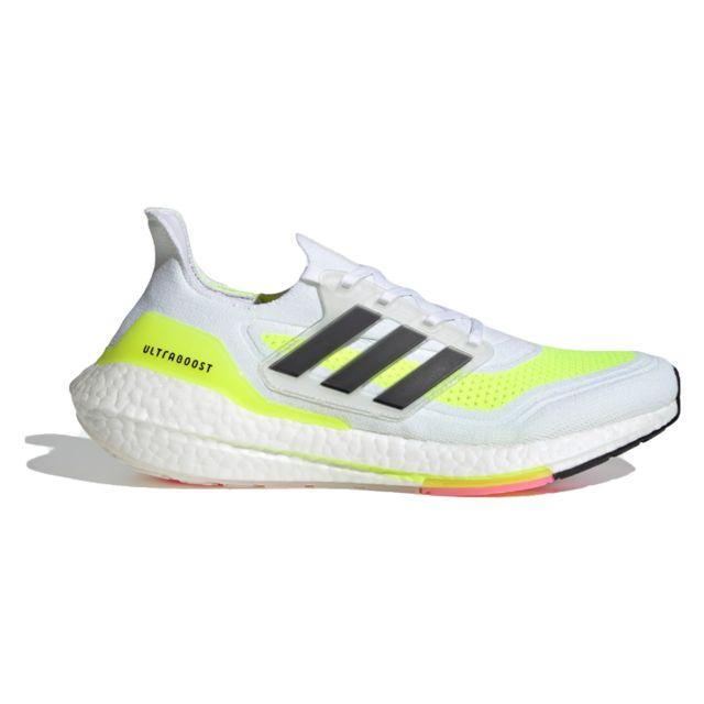 adidas UltraBoost 21 (White Yellow)