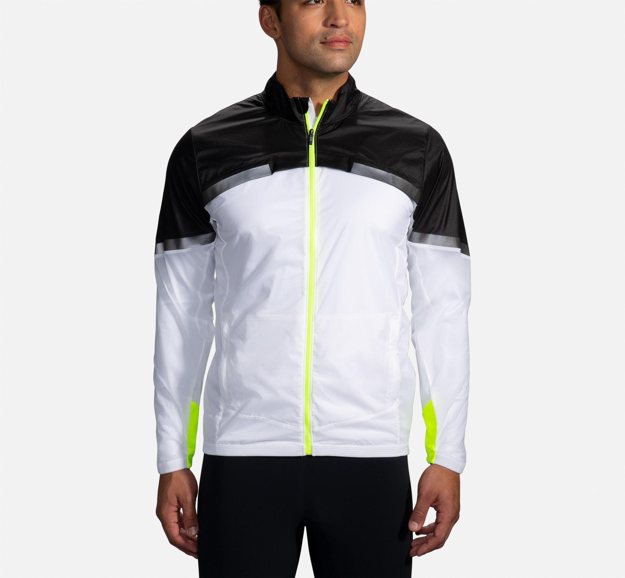 Brooks Carbonite Jacket (Weiß Schwarz Neongelb)