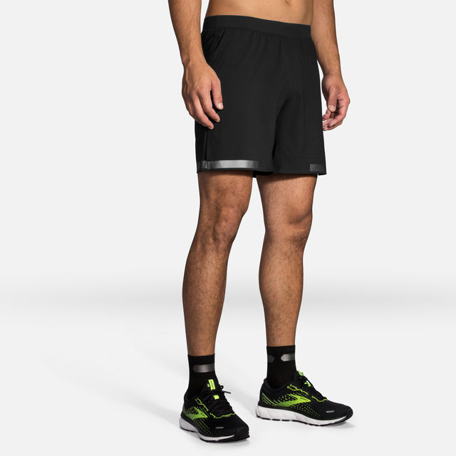 "Brooks Carbonite 7"" 2in1 Short (Schwarz)"