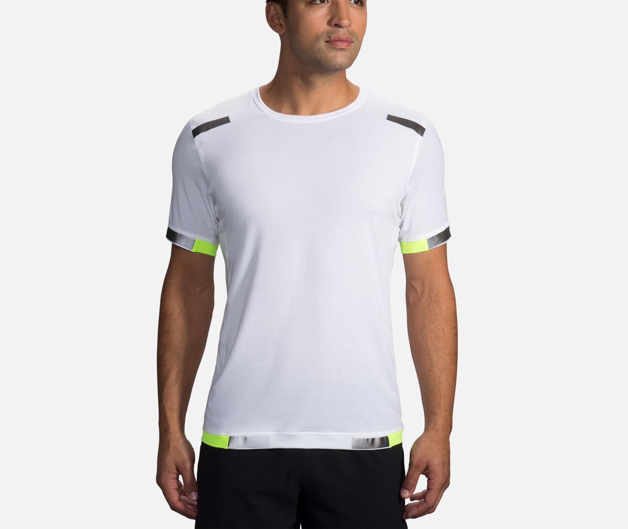 Brooks Carbonite Short Sleeve (Weiß Neon)