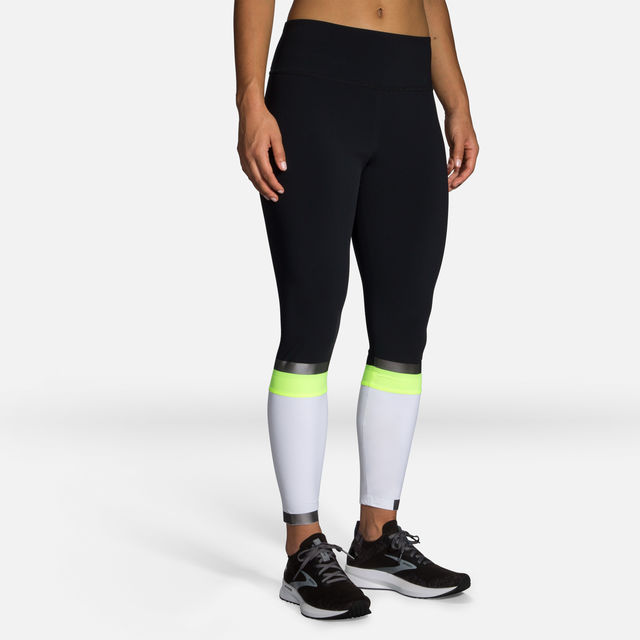 Brooks Lady Carbonite 7/8 Tight (Weiß Neon)
