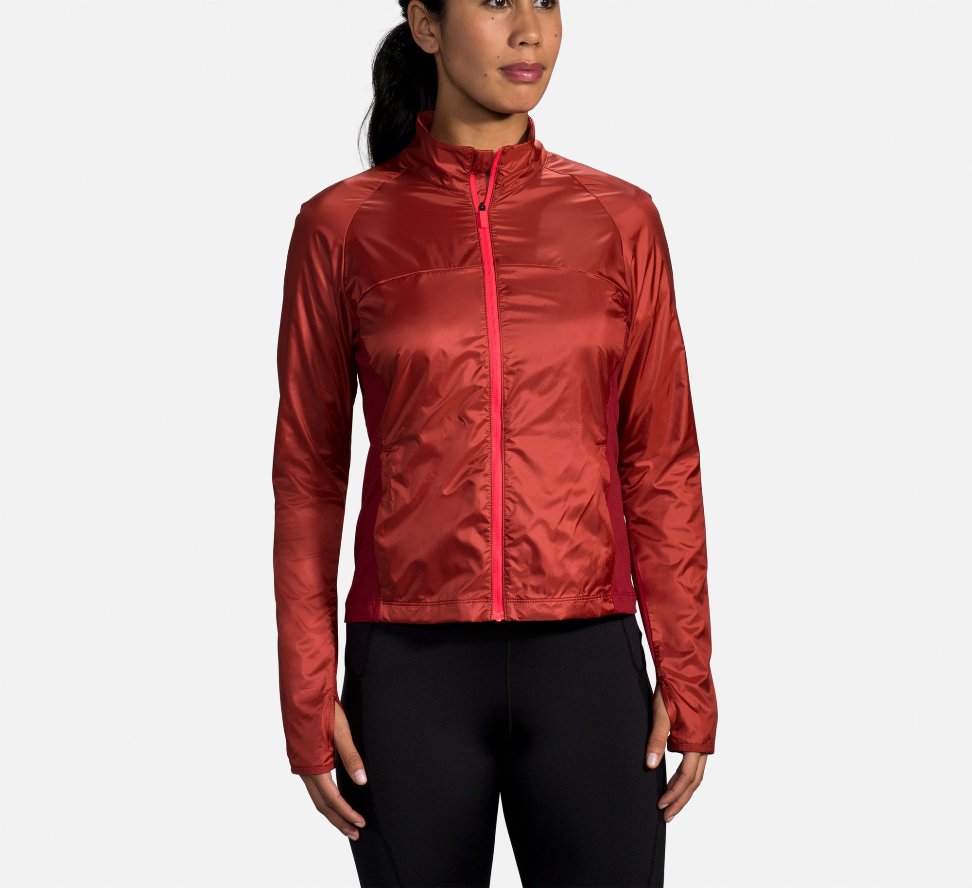 Brooks Lady Fusion Hybrid Jacket (Rot)