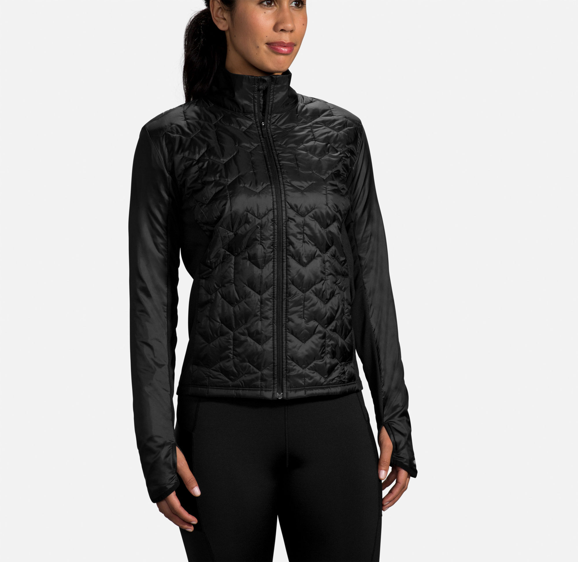 Brooks Lady Shield Hybrid Jacket (Schwarz)