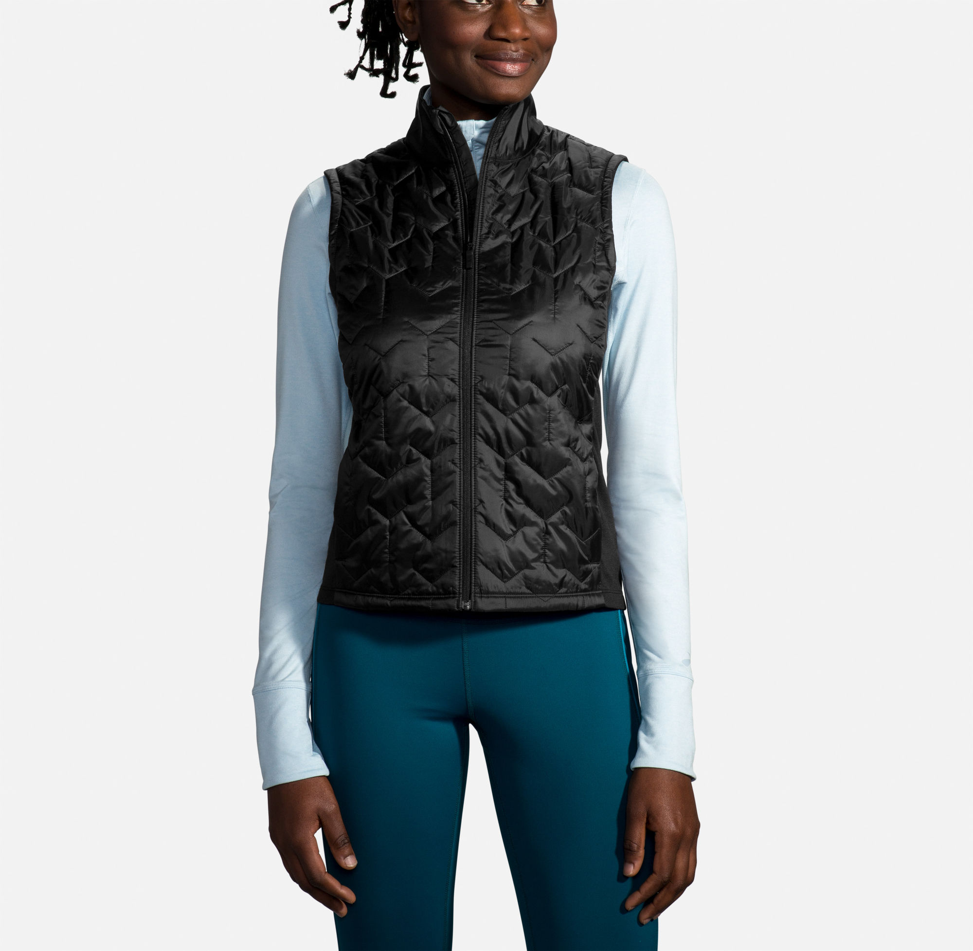 Brooks Lady Shield Hybrid Vest (Schwarz)