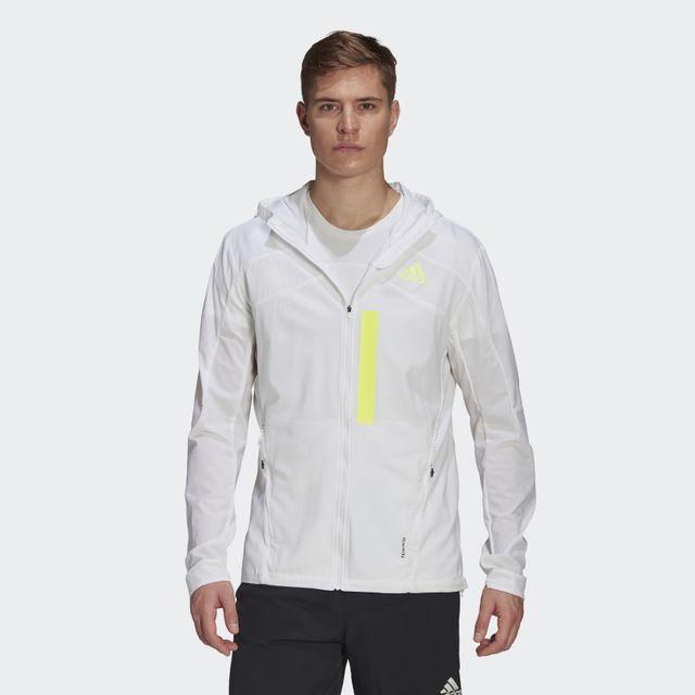 adidas Marathon Jacket (White Yellow)