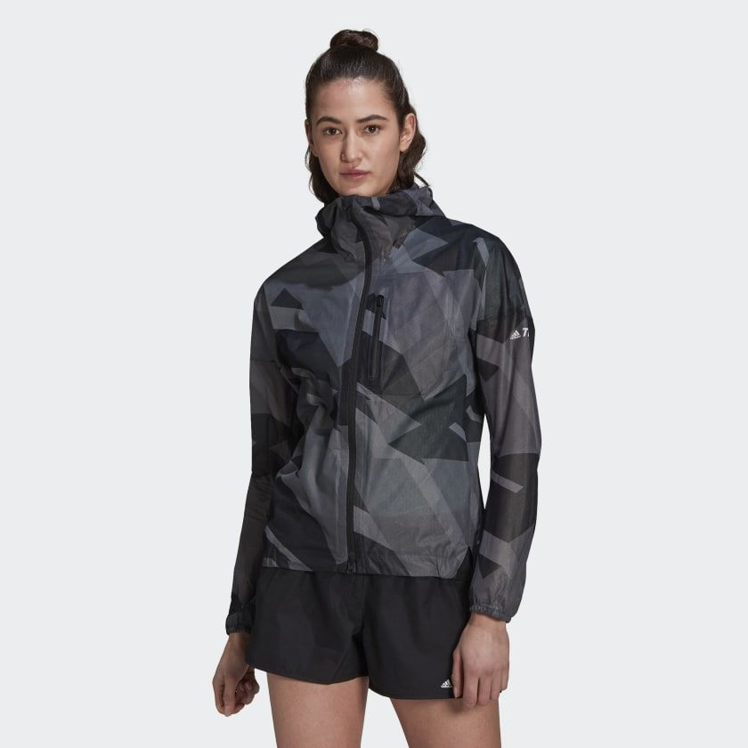 adidas Agravic Rain Jacket w (Grey Black)