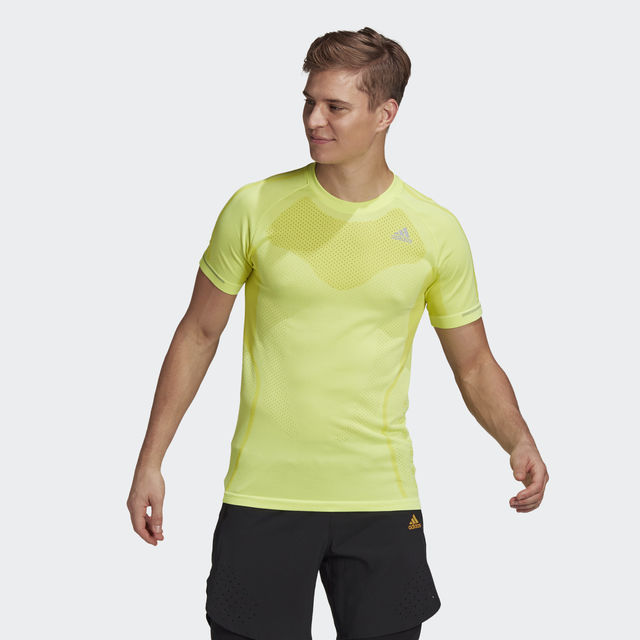 adidas Primeknit Tee (Acid Yellow)