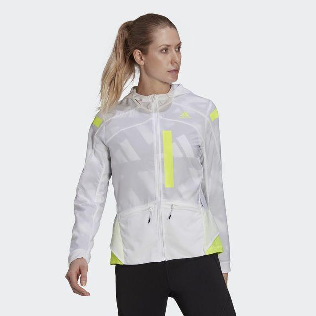adidas Marathon Jacket w (White Yellow)
